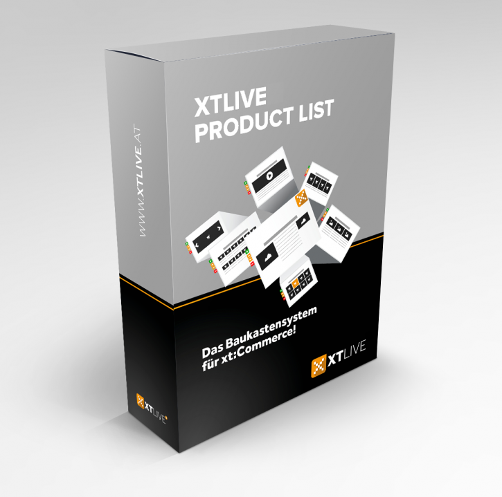 XTLIVE Product List xt:Commerce 5 / ohne Installationsservice